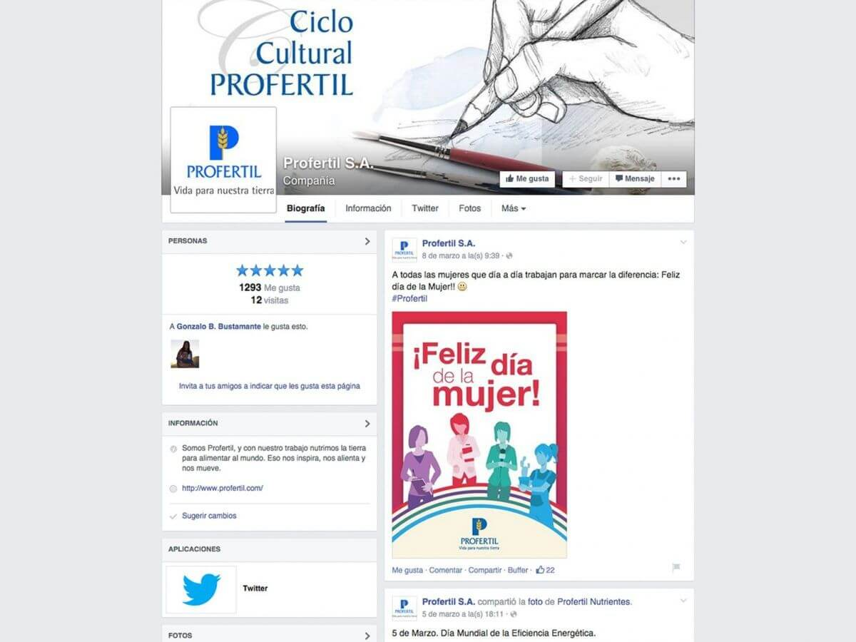 Facebook de Profertil Institucional