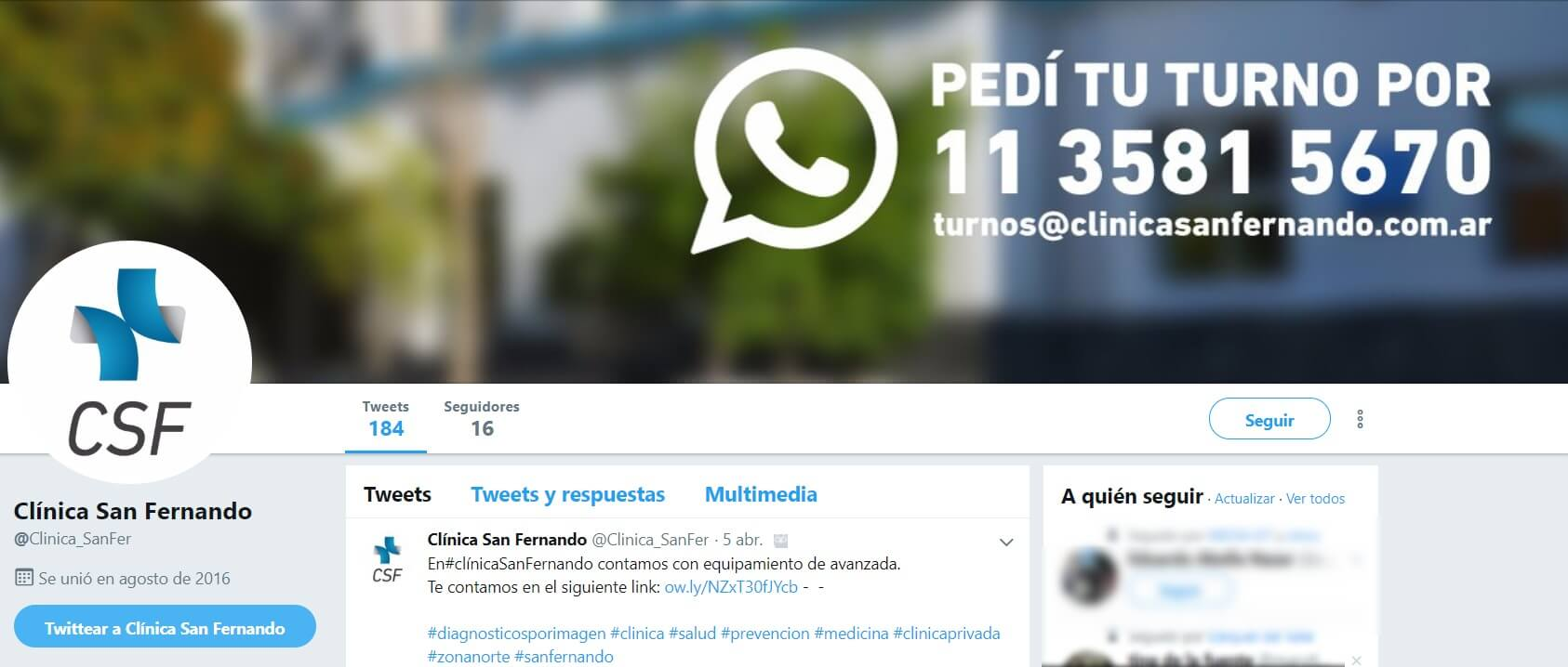 Clinica San Fernando - Twitter